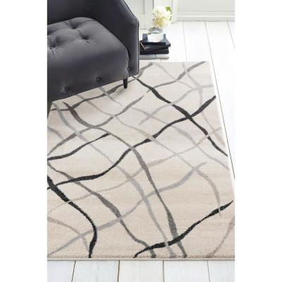 Serenity Reve Cream 2 ft. 7 in. x 4 ft. 2 in. Accent Rug