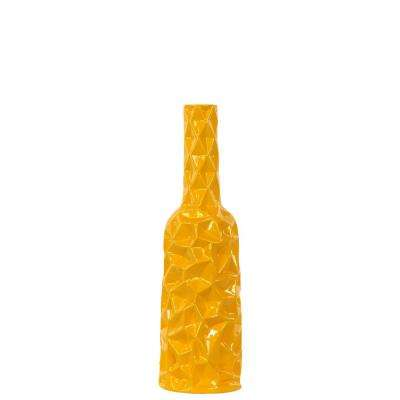 Yellow Gloss Ceramic Decorative Vase