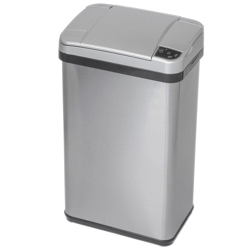 Stainless Steel Touchless Multifunction Sensor Trash Can With Deodorizing