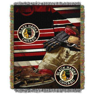 Blackhawks Multi Color Vintage Tapestry Throw