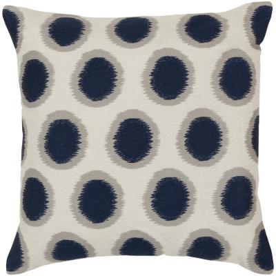Altamura Dark Blue Geometric Polyester 20 in. x 20 in. Throw Pillow