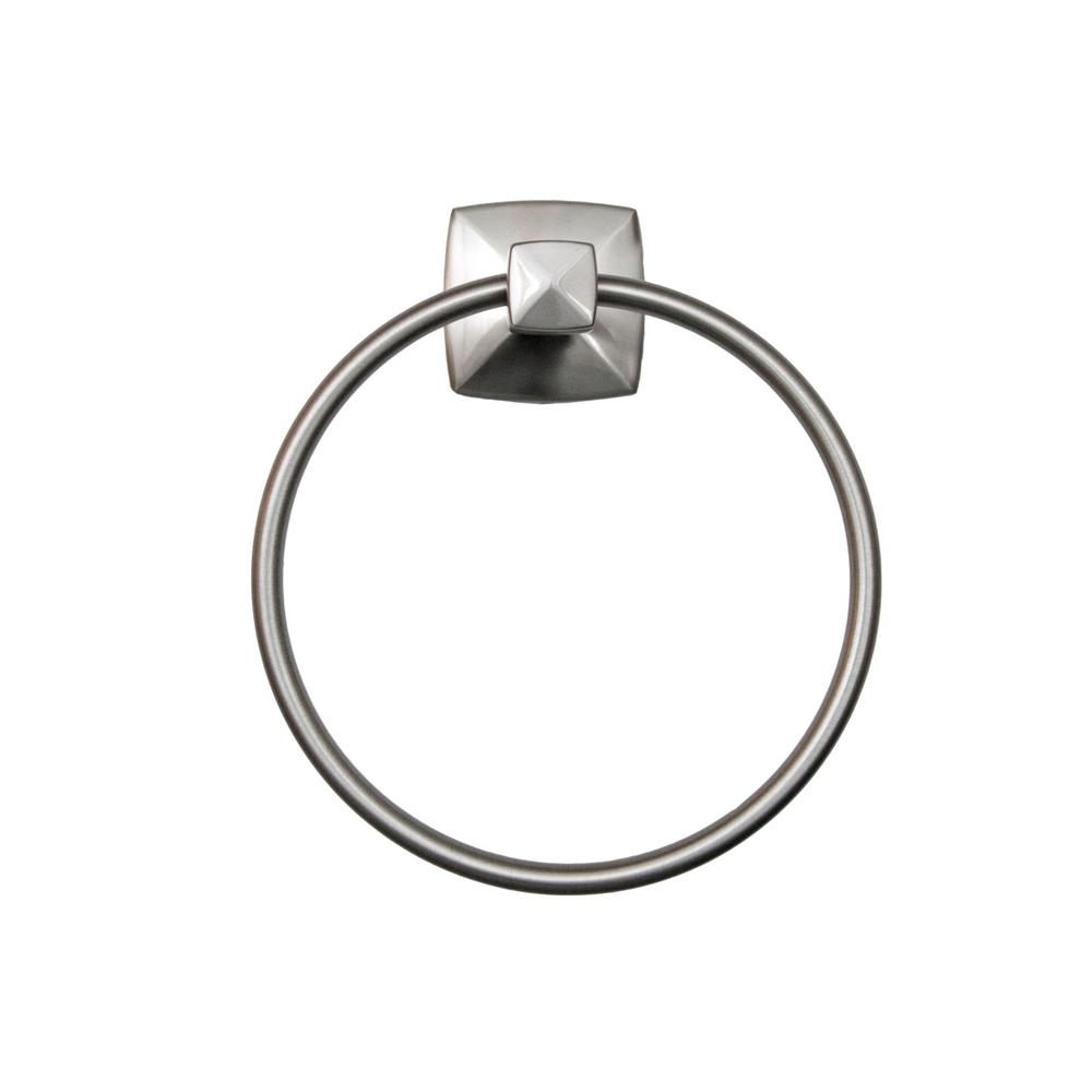Perth Towel Ring in Satin Nickel