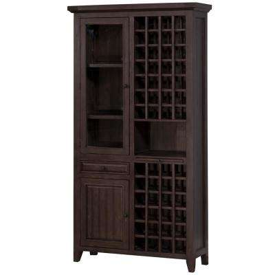 Tuscan Retreat Tall Wine Storage in Weathered Gray