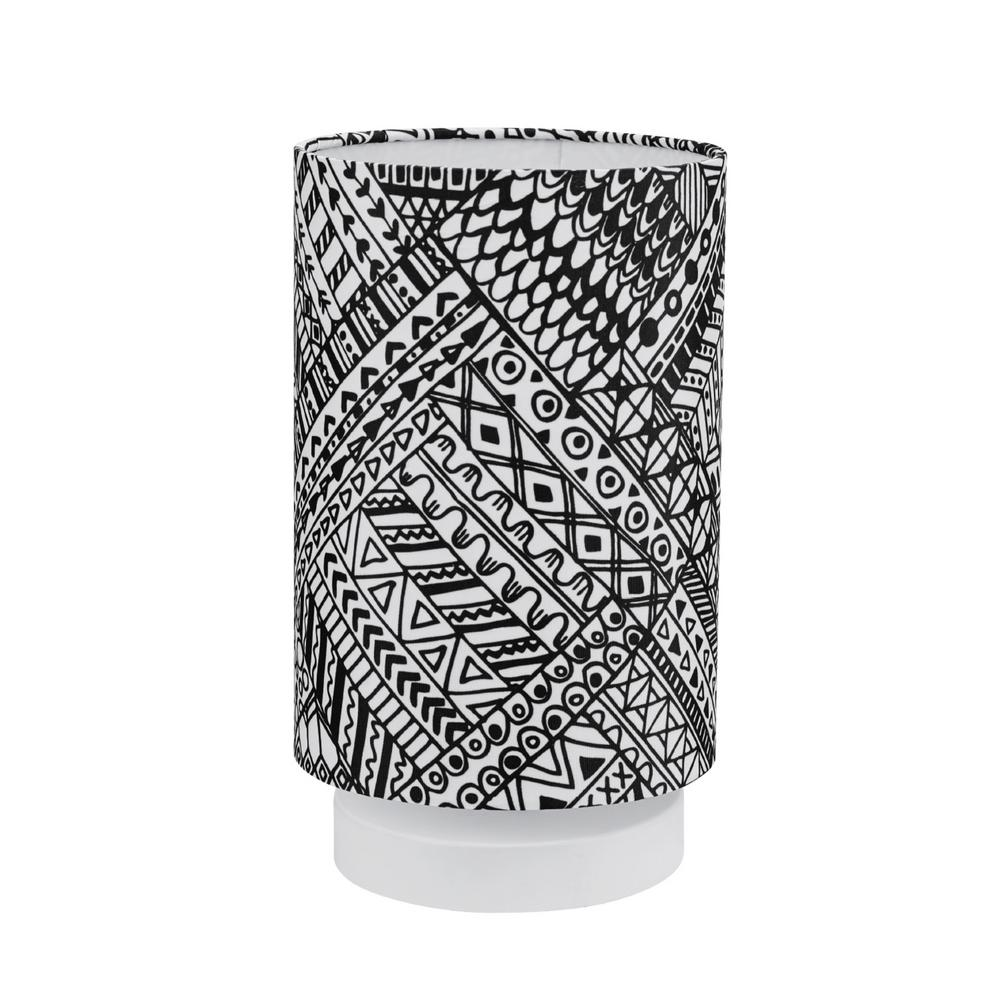 Novogratz x Globe Electric Lucy 10 in. Tribal Pattern Table Lamp with Fabric Shade