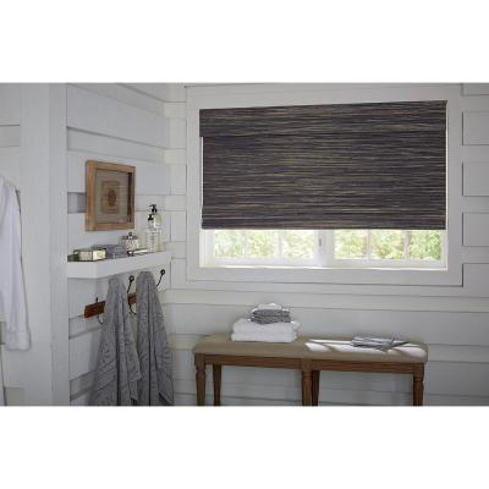 Designer Horizontal Natural Woven Roman Shade