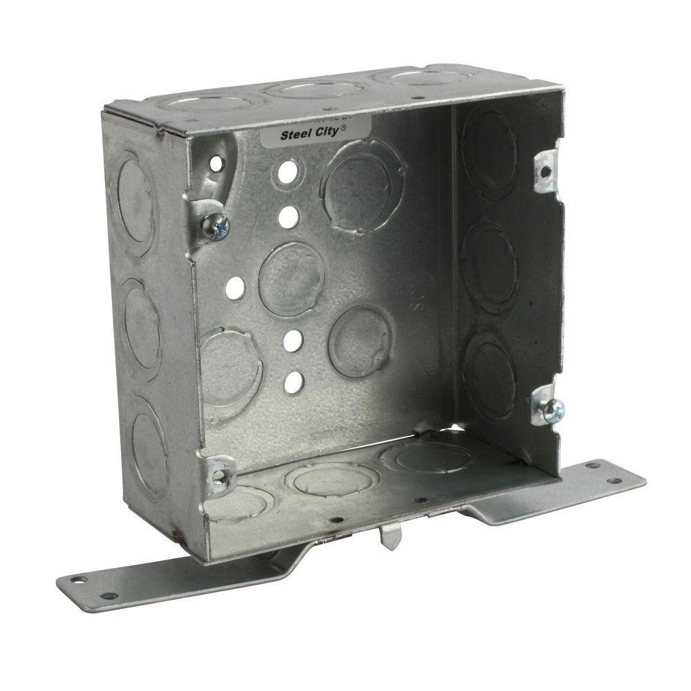 4 in. Steel Square Box CV Bracket (25 per Case)