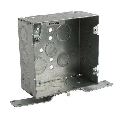 1-Gang 4 in. New Work Metal Square Electrical Box with CV Bracket (25 per Case)