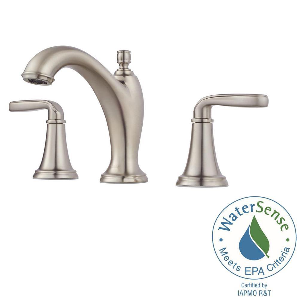 Northcott 8 in. Widespread 2-Handle Bathroom Faucet in Brushed Nickel