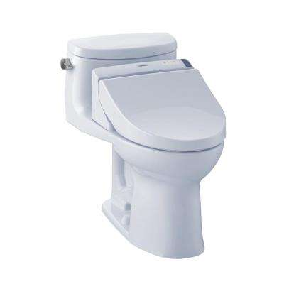 Supreme II Connect+ 1-Piece 1.28 GPF Elongated Toilet with Washlet C200 Bidet Seat and CeFiOntect in Cotton White