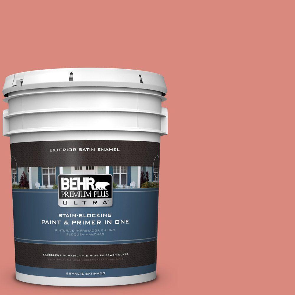 BEHR Premium Plus Ultra 5-gal. #M170-5 Indian Sunset Satin Enamel Exterior Paint