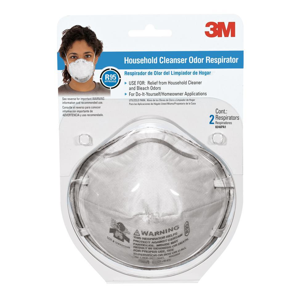 Household Cleanser Odor Respirator Mask ((2-Pack)(Case of 12))