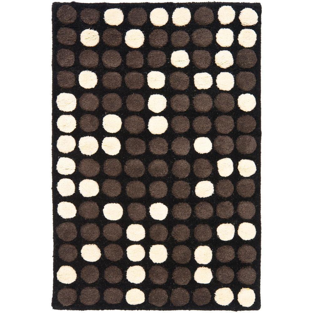 Soho Black/White 2 ft. x 3 ft. Area Rug