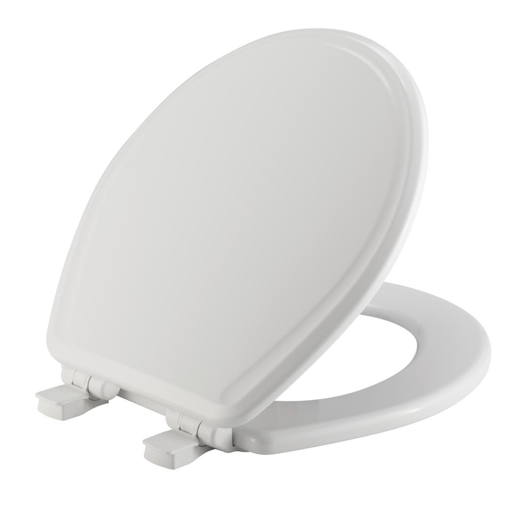 Bemis Round Closed Front Toilet Seat In White 600e3 000
