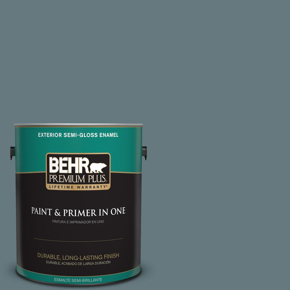 1-gal. #BXC-81 Crater Lake Semi-Gloss Enamel Exterior Paint