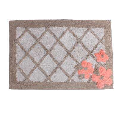 Cotton Bath Rug In Tan