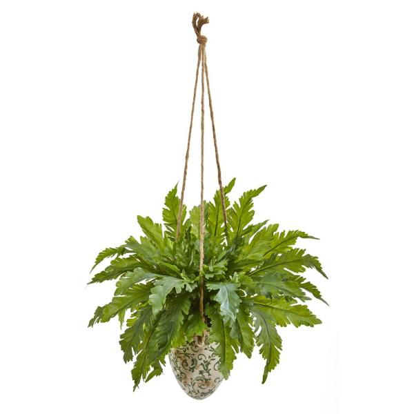 29 in. Fern Artificial Plant in Hanging Vase