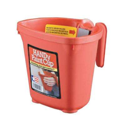 HANDy 16 oz. Red Plastic Paint Cup with Magnet
