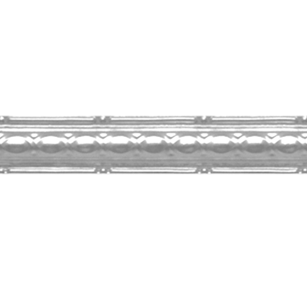 2-1/2 in. x 4 ft. Brite Chrome Nail-up/Direct Application Tin Ceiling