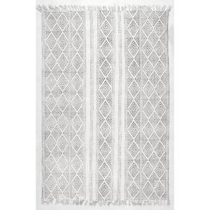 Olvera Diamond Off White 6 ft. x 9 ft.  Area Rug
