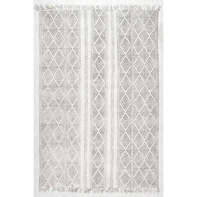 Olvera Off White 7 ft. 6 in. x 9 ft. 6 in. Area Rug