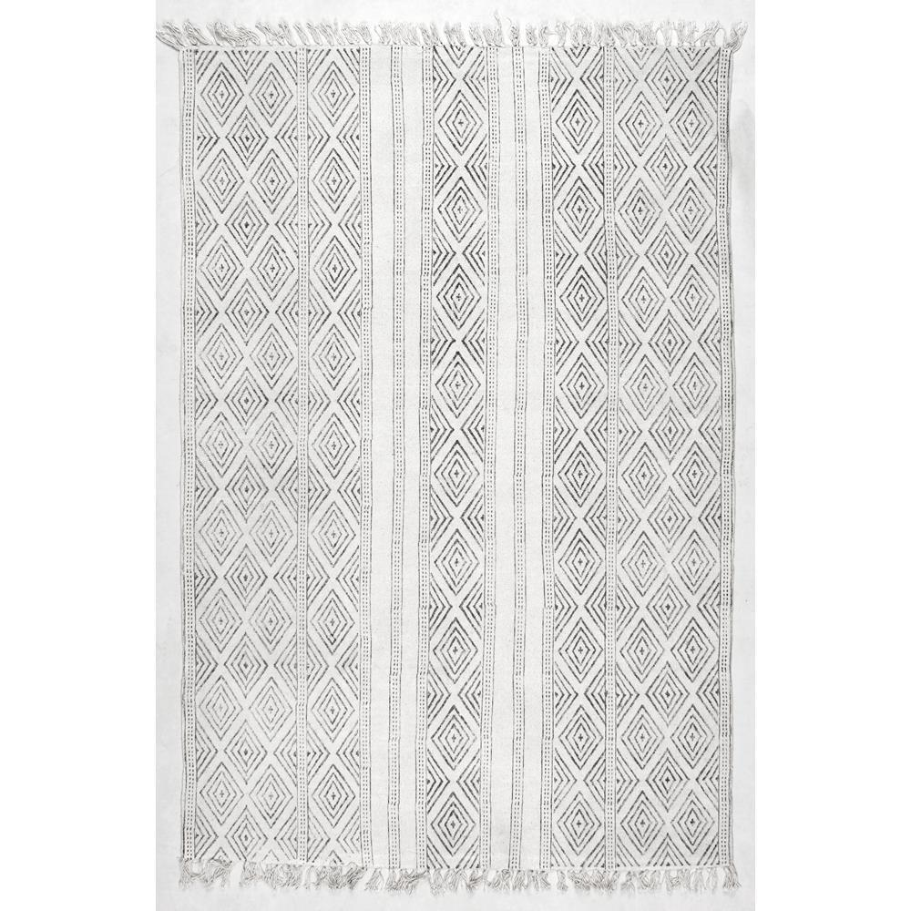 nuLOOM Olvera Off White 8 ft. 6 in. x 11 ft. 6 in. Area Rug