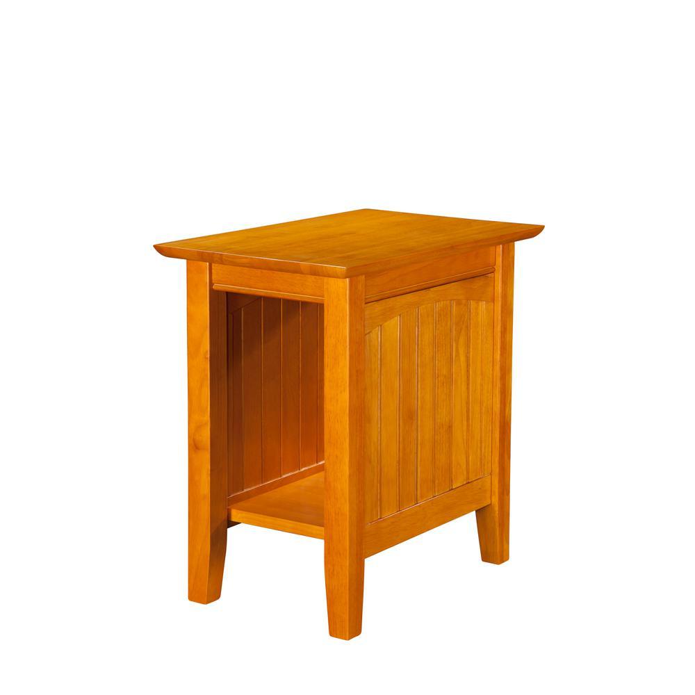 Atlantic Furniture Nantucket Caramel Chair Side Table AH13307