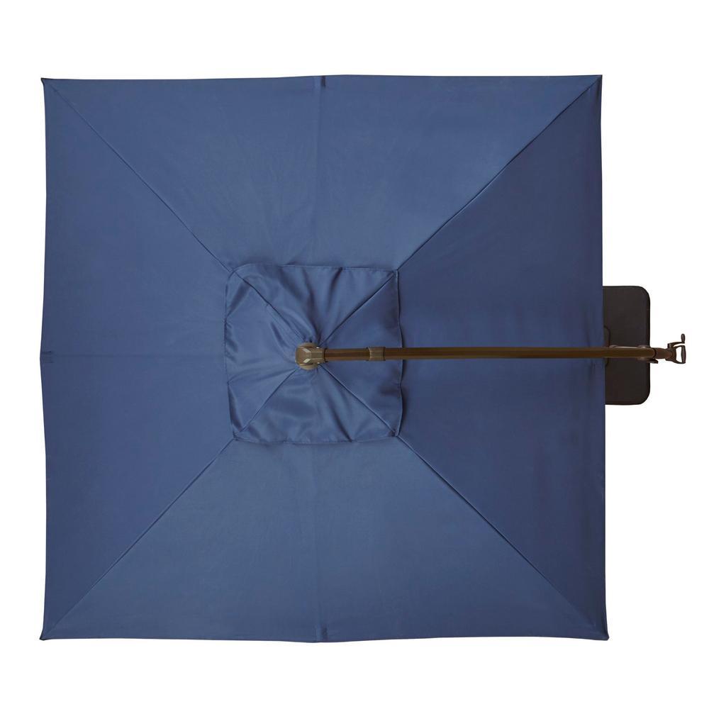 Hampton Bay 8 ft  Aluminum Square Cantilever Offset Patio Umbrella in  Midnight