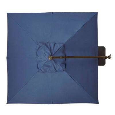 8 ft. Aluminum Square Cantilever Offset Patio Umbrella in Midnight