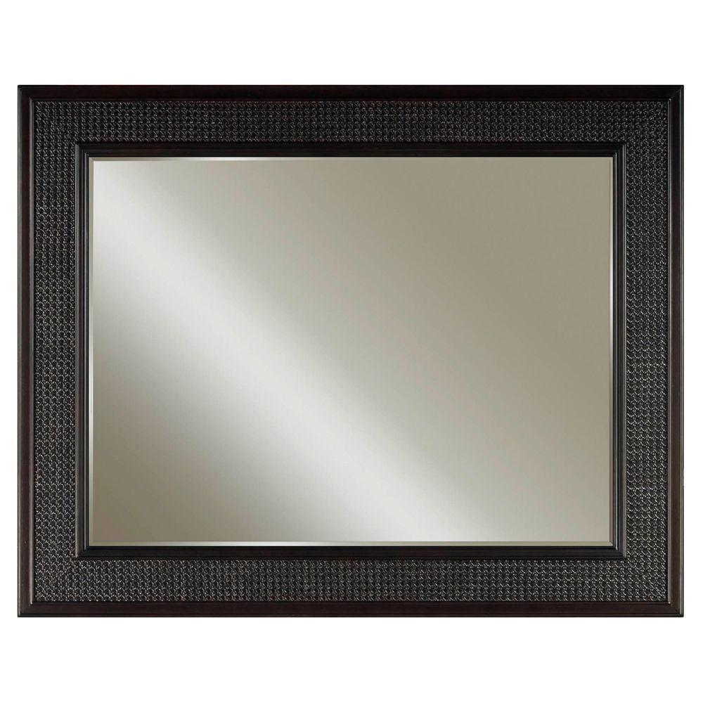London 36 in. L x 48 in. W Single Wall Mirror in Espresso
