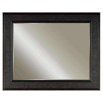 London 36 in. L x 48 in. W Single Wall Mirror in Espresso