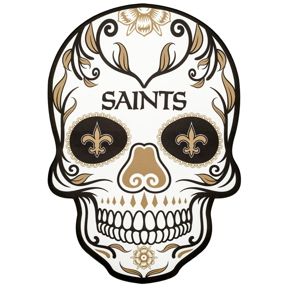 Applied Icon Nfl New Orleans Saints Outdoor Skull Graphic