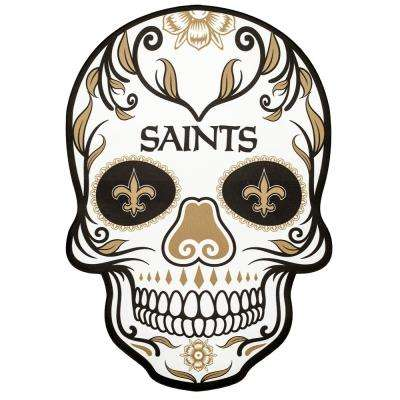NFL New Orleans Saints Outdoor Skull Graphic- Large