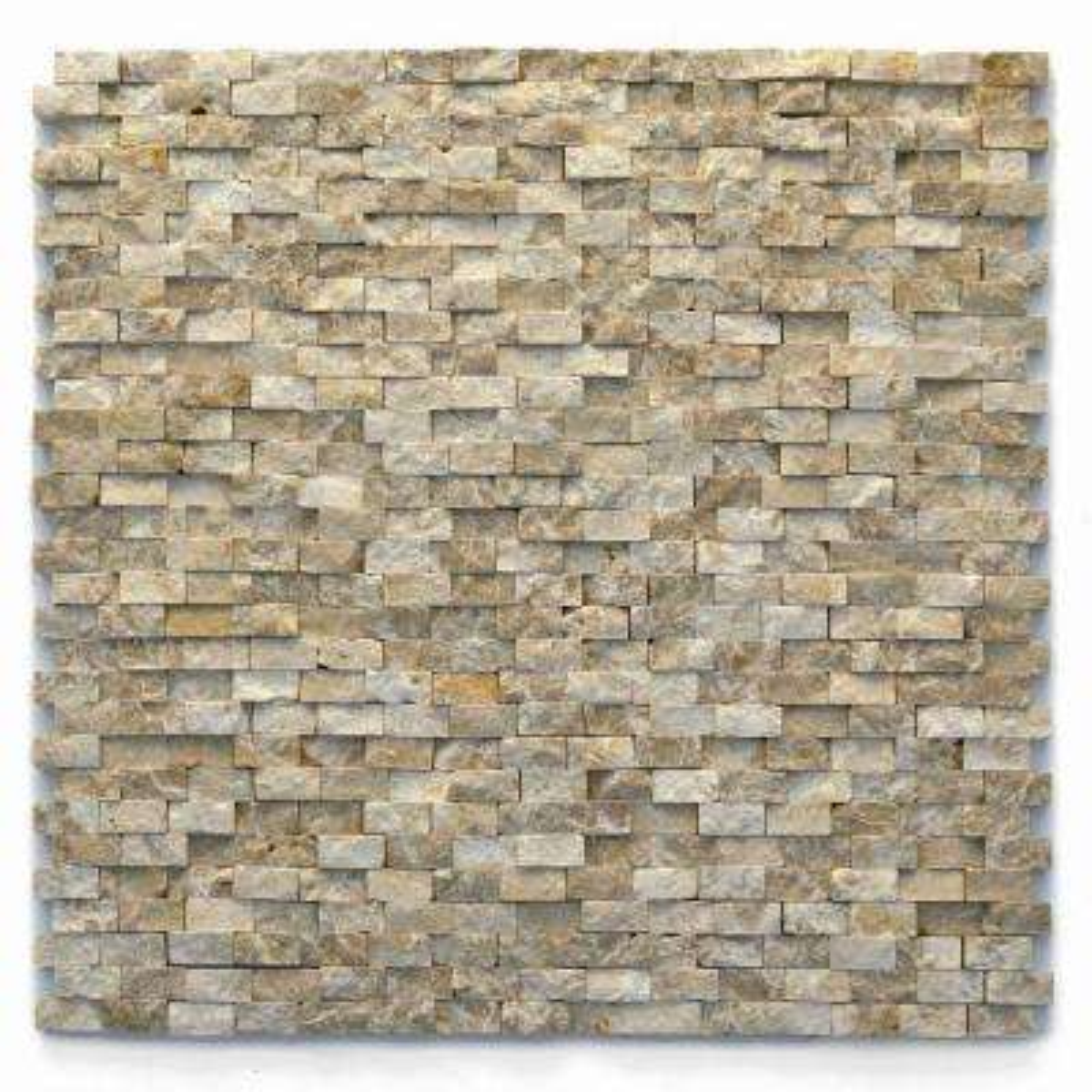 Modern 12 in. x 12 in. Dada Marble Mesh-Mounted Mosaic Tile (10 sq. ft. / case)