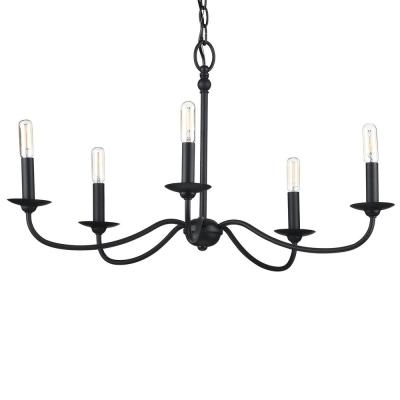 Pacolet 5-Light Textured Black Chandelier