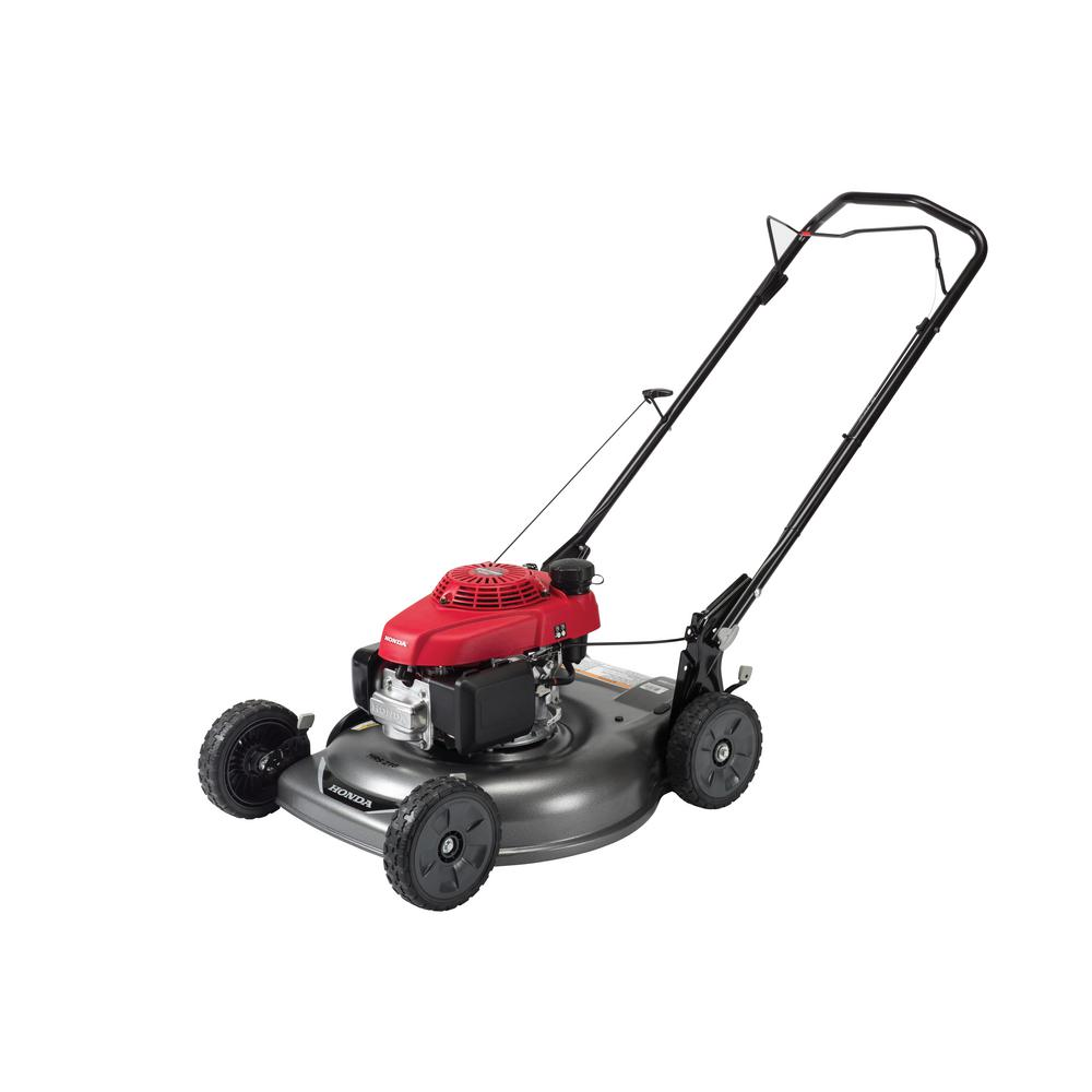 honda   gas push walk  manual side discharge lawn push mower hrspka  home depot