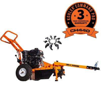 12 in. 14 HP Gas Powered Kohler Engine Stump Grinder with Removable Tow Bar & Set of Replacement Teeth