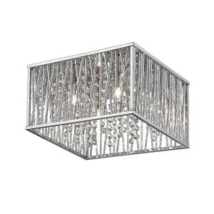 Home Decorators Collection Lighting. Home Decorators Collection 16 in  4 Light Chrome Square Flushmount with Glass Beads 16648 The Depot