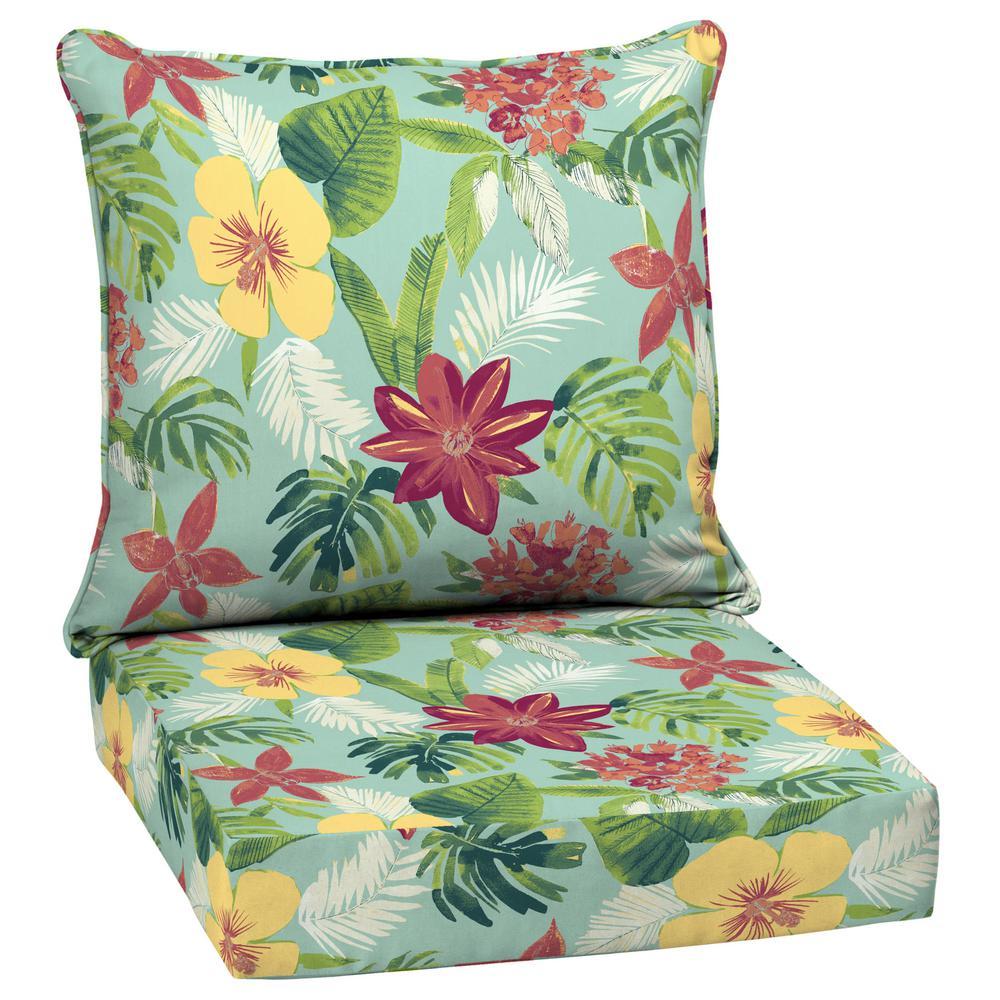 24 x 24 Elea Tropical 2-Piece Deep Seating Outdoor Lounge Chair Cushion
