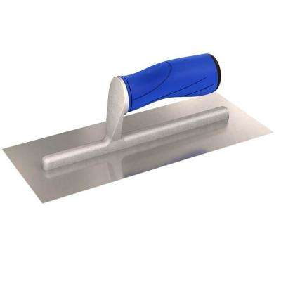 11 in. x 4-1/2 in. Straight Edge Finishing Trowel with Comfort Grip Handle