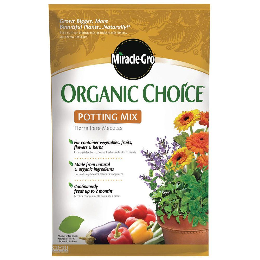 Miracle gro organic choice 32 qt potting mix 72983510 - Home depot miracle gro garden soil ...