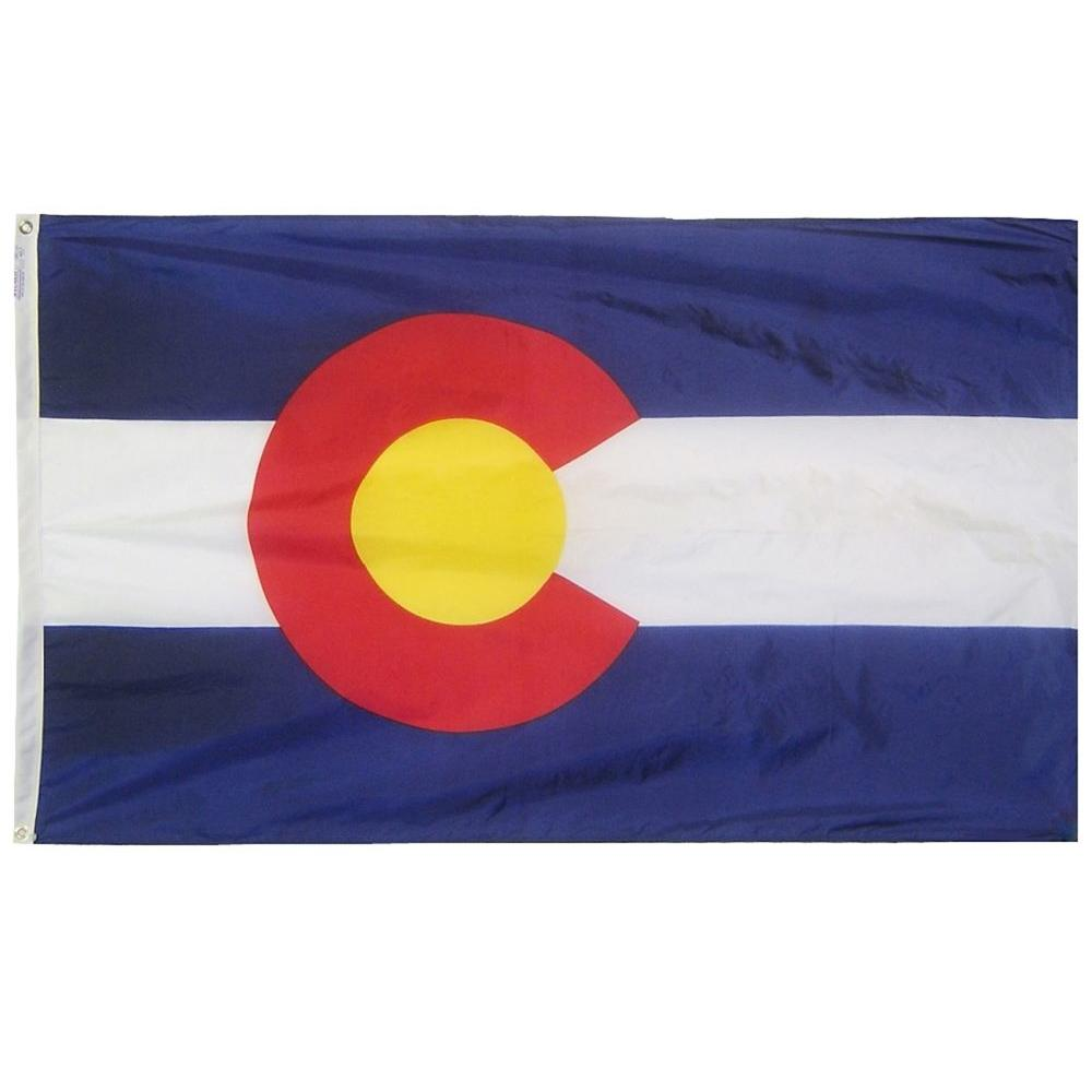 Annin Flagmakers 4 ft. x 6 ft. Colorado State Flag