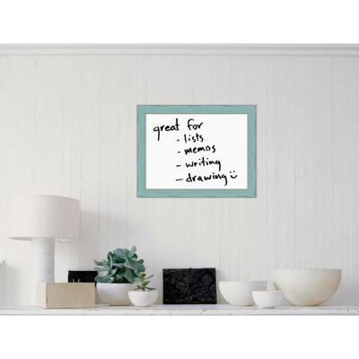 Country Sky Blue Wood 17.5 in. H x 22.5 in. W Framed Dry Erase Board