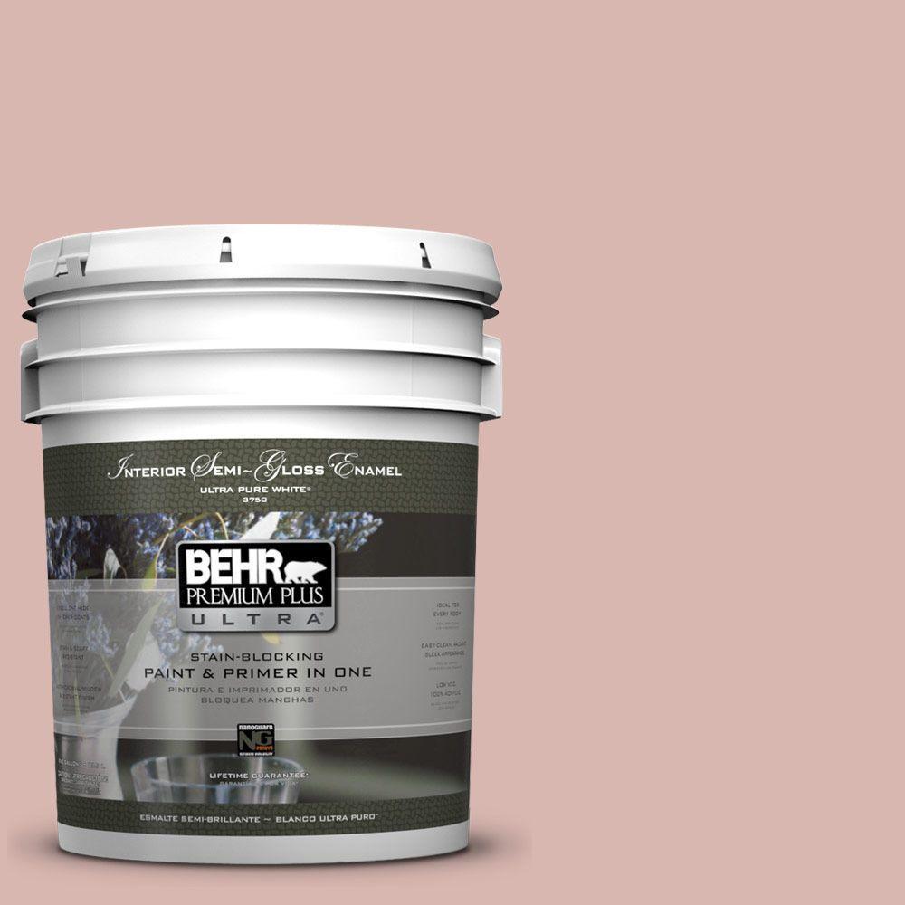 5-gal. #170E-3 Bridal Rose Semi-Gloss Enamel Interior Paint