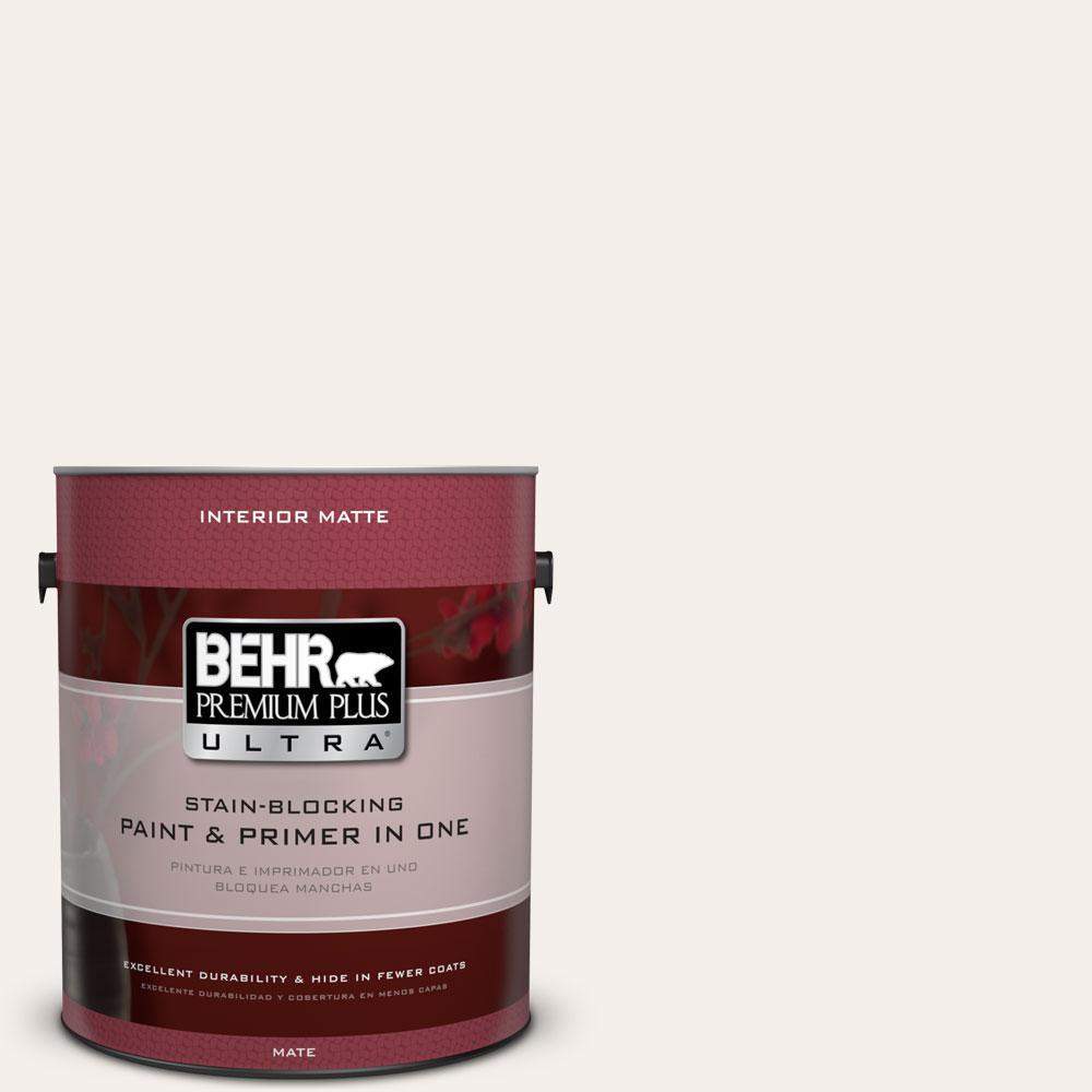 Behr Premium Plus Ultra 1 Gal Gr W15 Palais White Matte Interior Sq Chunky Bar 100 Paint