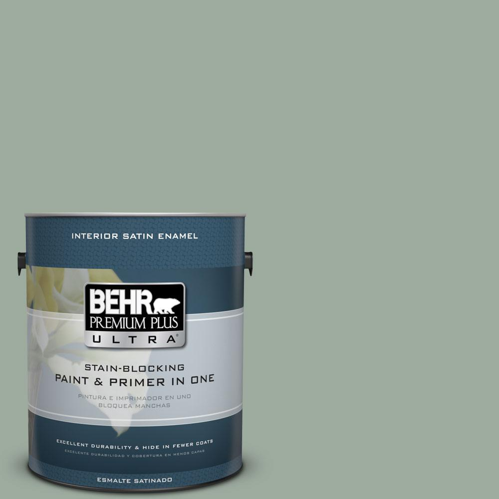 BEHR Premium Plus Ultra 1-gal. #450F-4 Scotland Road Satin Enamel Interior Paint