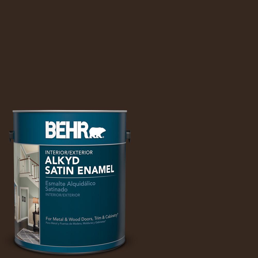 1 gal. #SC-105 Padre Brown Satin Enamel Alkyd Interior/Exterior Paint