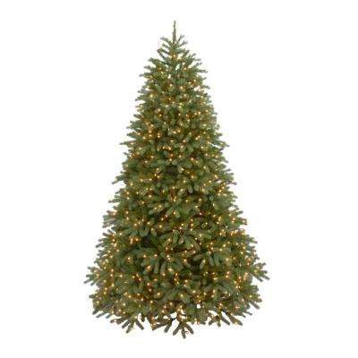 9 ft. Feel Real Jersey Frasier Fir Medium Hinged Artificial Christmas Tree with 1500 Clear Lights