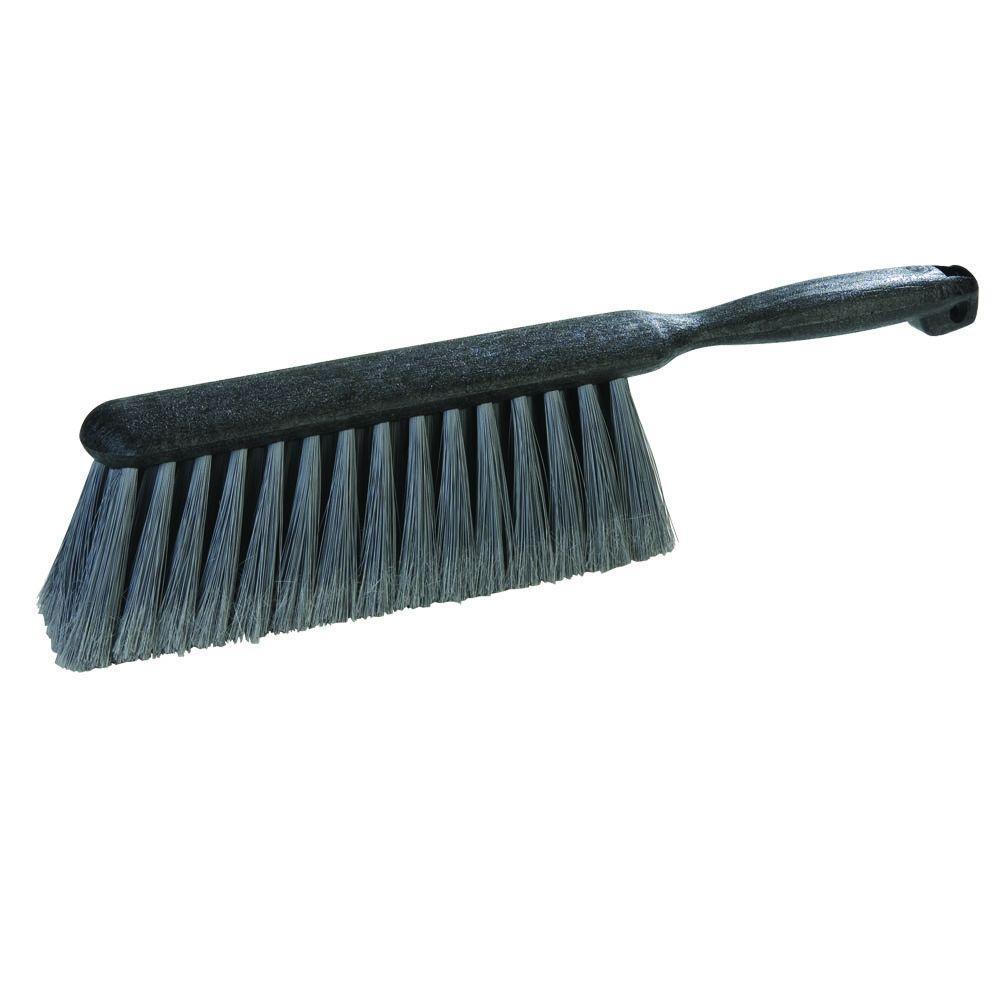 13 in. Flagged Polypropylene Counter/Bench Scrub Brush (Case of 12)