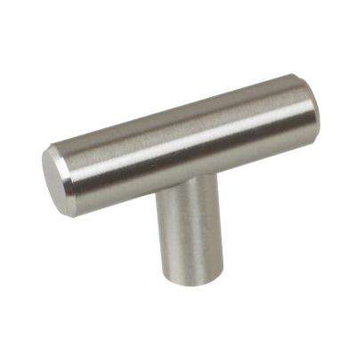 2 in. Thick Solid Stainless Steel Finish T-Bar Knobs