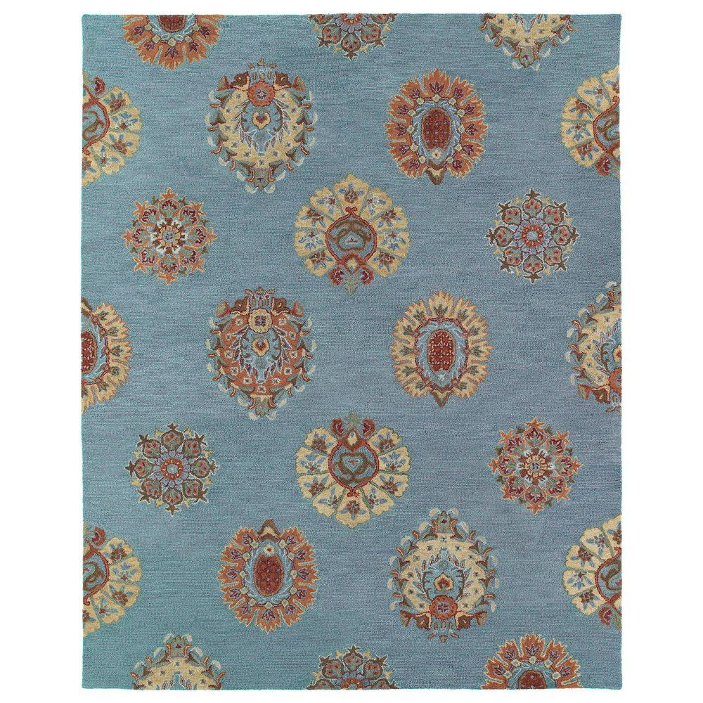 Kaleen Helena Turquoise Area Rug Reviews: Kaleen Brooklyn Tatum Spa 8 Ft. X 11 Ft. Area Rug-5301-56